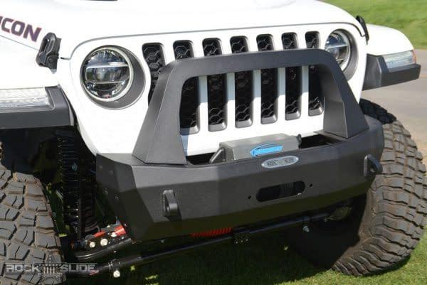 bumper depan dengan bull bar untuk jeep wrangler dan gladiator