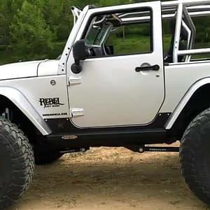rock guard untuk jeep wrangler jk 2 pintu