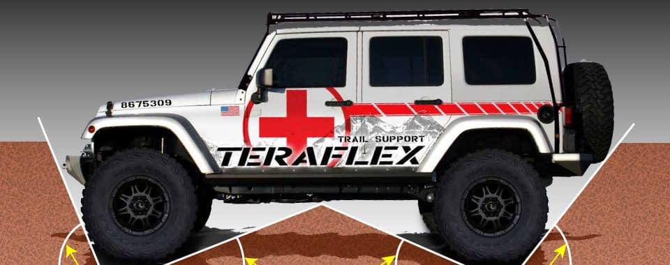 efek suspensi pada jeep off road