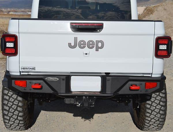 bumper belakang jeep gladiator jt