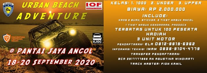 event offroad iof imi ancol september 2020