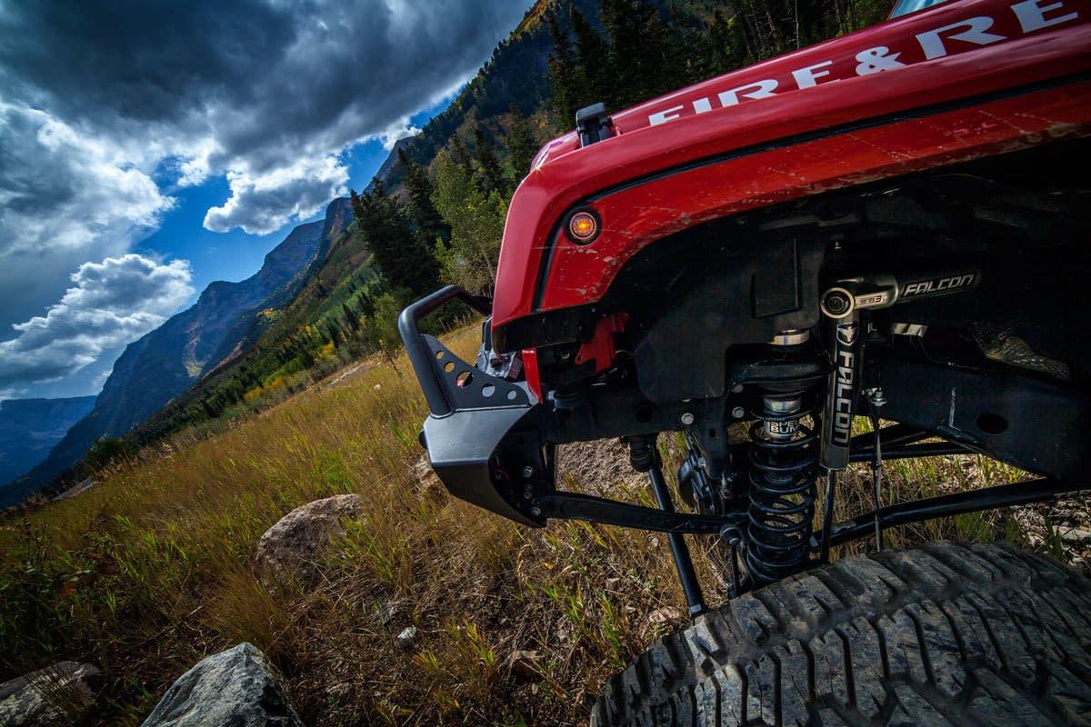 jeep wrangler dengan teraflex shock