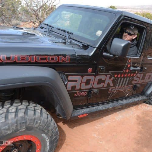 Rock Slide Engineering Step Slider Set For Jeep Wrangler JL 4 door